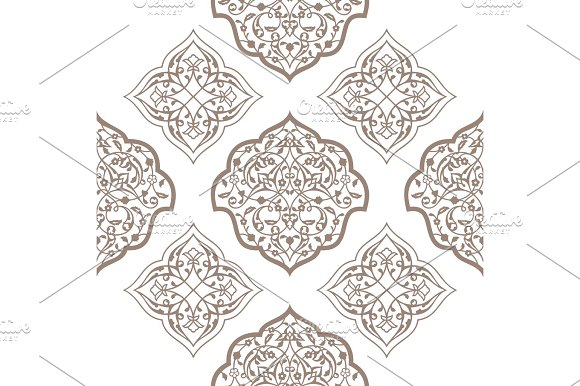Oriental Seamless Pattern Of Mandalas