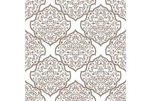Oriental seamless pattern of mandalas.