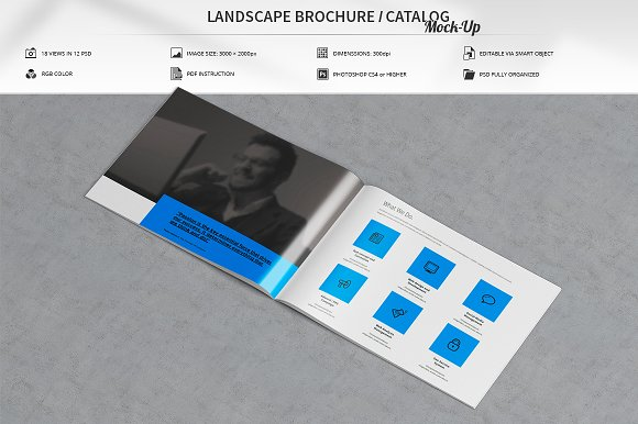 Landscape Brochure Catalog Mock-Up