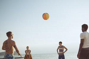 Beach volley fun
