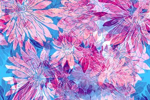 chrysanthemum seamless pattern | JPG