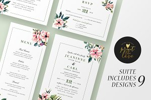Wedding Invitation Suite - Jeaninne