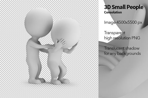 3D Small People Consolation