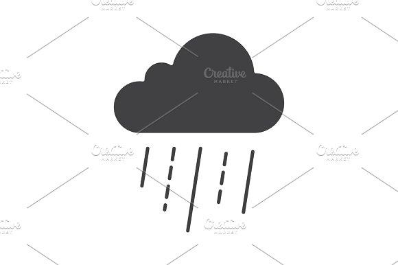 Rainy Cloud Glyph Icon