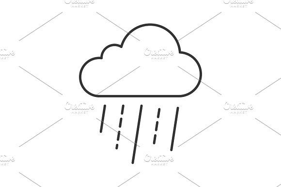 Rainy Cloud Linear Icon
