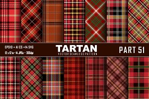 Seamless  Tartan Pattern Part - 51