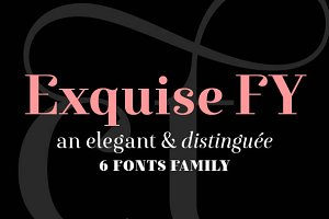 Exquise FY Family (6 fonts)