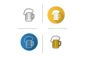 Foamy beer mug icon