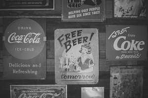 Vintage CocaCola And Bear Posters