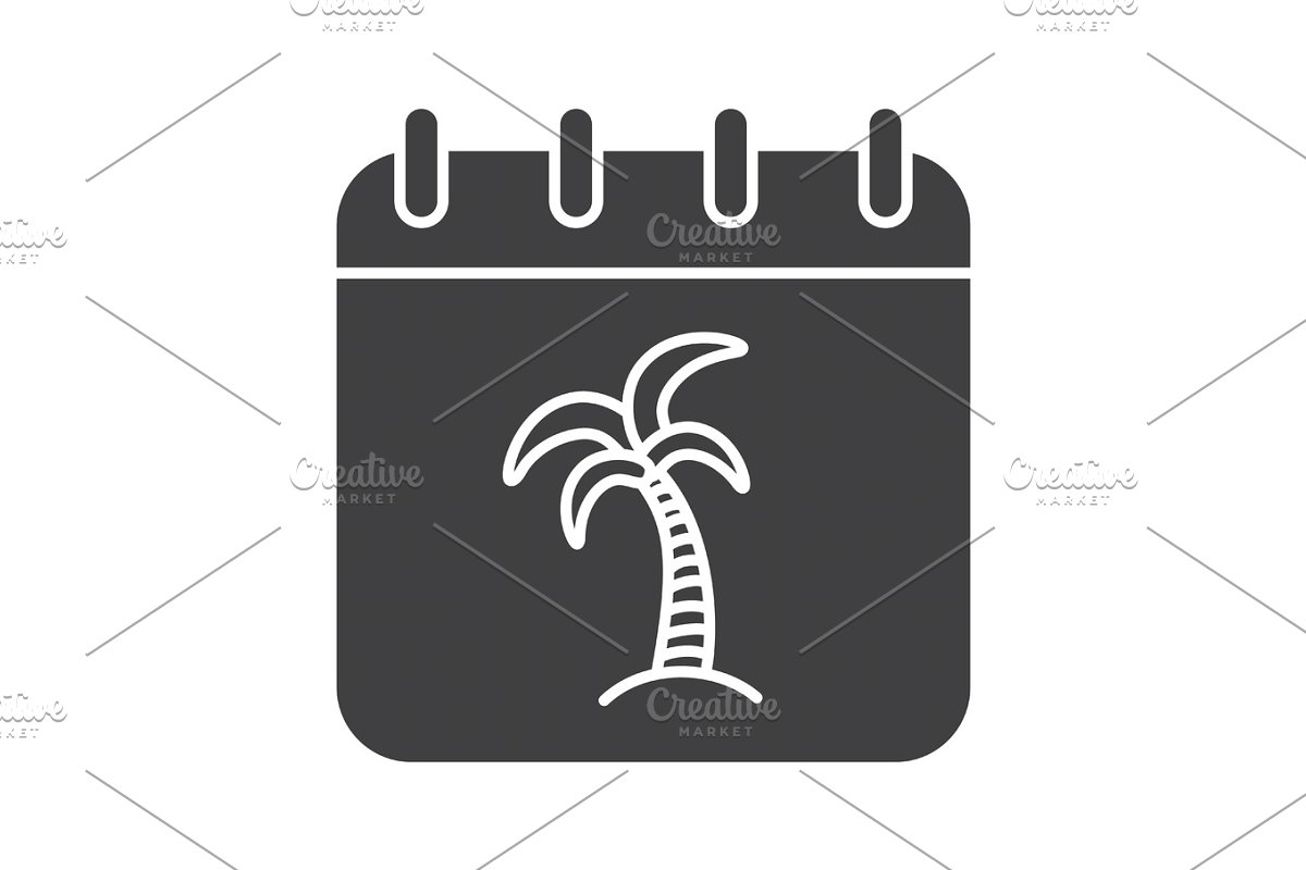 Calendar Days Icon.Vacations Days Glyph Icon