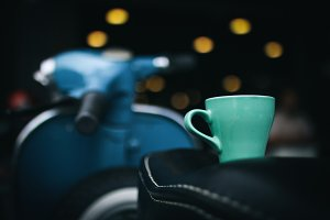 A Cup of Latte and Vespa