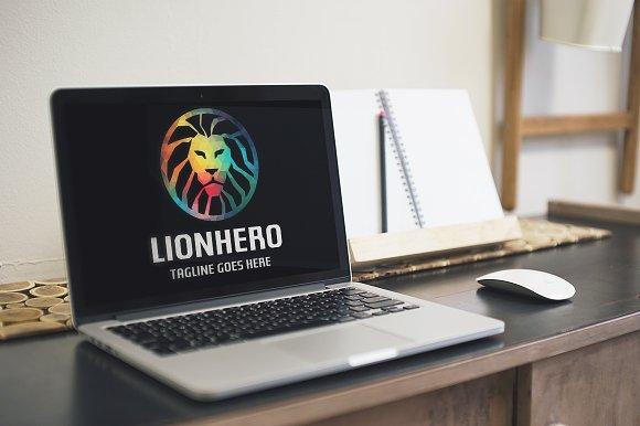 Lion Hero Logo