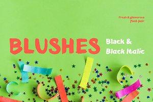 Blushes—Black & Black Italic