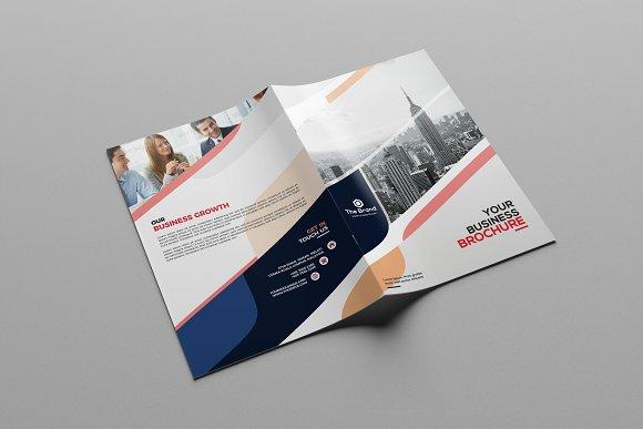 corporate bi fold brochure brochure templates creative market
