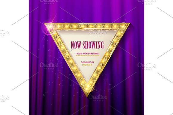 3 Triangular Light Banners