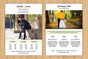Photography Price List -V602