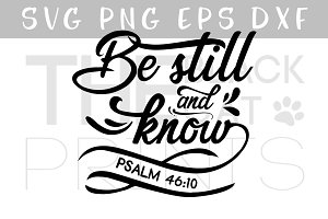 Be still and know SVG DXF EPS PNG