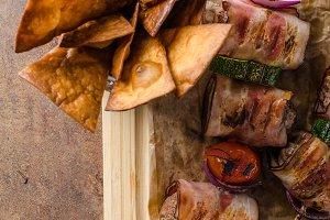 Grilled beef skewers