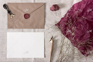 Smart Wax Seal Photo Mock-up. PSD