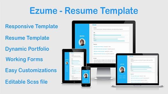 Ezume Resume Template