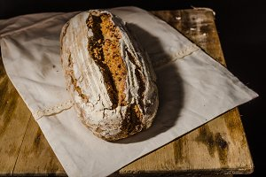Homemade bread rustic sourdough