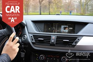 """Car Navigation PSD Mockup """"A"""""""
