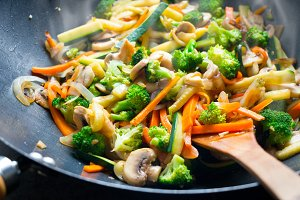 Vegetables wok
