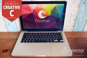 "MacBook PSD Mockup Creative ""C"""