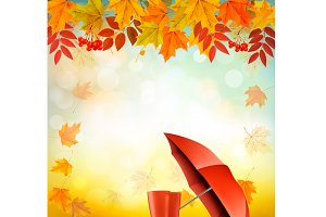 Nature autumn background