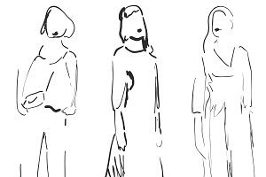 Fashion models. Sketching