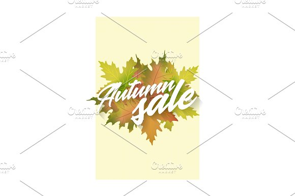 Autumn Sale Template Of Vector Poster Applicable For Design Gift Card Flyer Or Placard