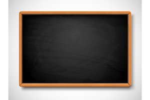 Black chalkboard. Vector illustration