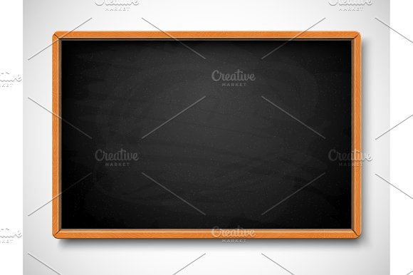 Black Chalkboard Vector Illustration