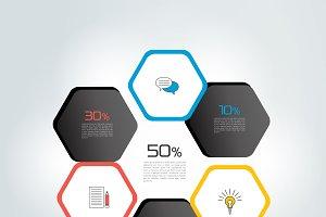 Circle, round infographic.