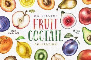 Watercolor Fruit Coctail