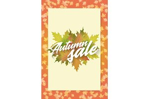 Autumn sale. Concept of poster. Applicable for advertising and promotion, season offer, design gift card, flyer or placard.