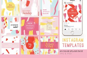 Instagram Color Splash Templates