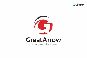 Great Arrow Logo Template