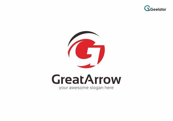 Great Arrow Logo Template