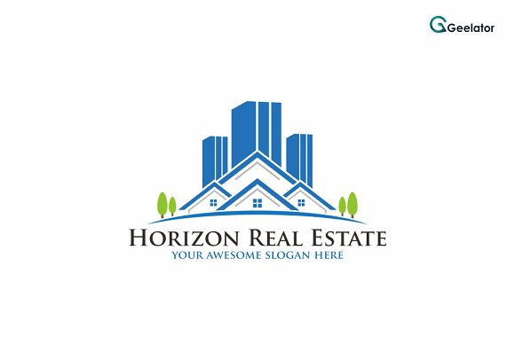 Horizon Real Estate Logo Template