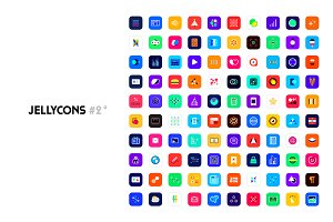 Jellycons #2 - 100 iOS 8 App Icons