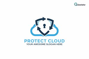 Protect Cloud Logo Template