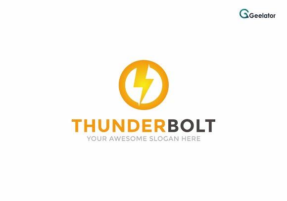 Thunder Bolt Logo Template