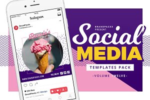Social Media Templates Pack Vol. 12