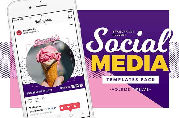 Social Media Templates Pack Vol 12