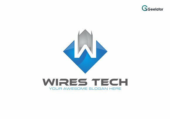 Wires Tech Logo Template