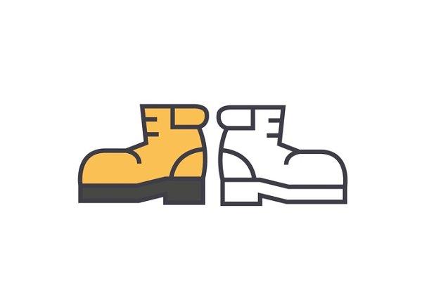 Boots, foorwear, hiking concept. Li…
