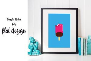 Cool ice cream poster
