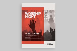 Modern Worship Night Poster