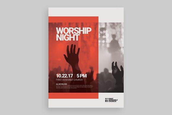 Modern Worship Night Poster
